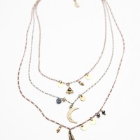 Free People Cherish 3 Chain Necklace