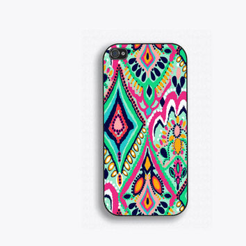 Colorful Geometric Floral Phone Case, for iPhone 5, iPhone 5s, iPhone 5c, iPhone 4, iPhone 4s, Galaxy S3, S4 and S5. Lilly PulitzerNM-164