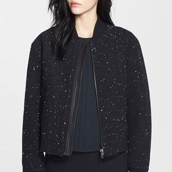 rag & bone 'Challenge' Leather Trim Bomber Jacket | Nordstrom