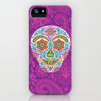Flower Power Skully iPhone & iPod Case by Groovity