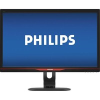 "Philips - Brilliance 24"" LED HD Monitor - Black/Red"