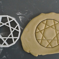 Heawood graph cookie cutter, 3D printed