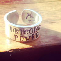 unicorn power 3/8 inch wide aluminum ring cuff style
