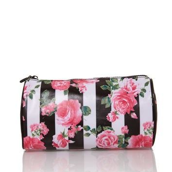Rose Print Cosmetic Pouch