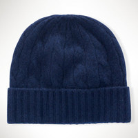 Classic Cabled Cashmere Hat