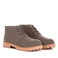 Sharleen Lace Up Boot With Contrast Sole in Grey