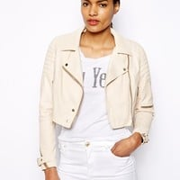 River Island Cropped Croc Leather Look Jacket