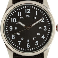 Canvas-Strap Analog Watch