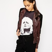 Muubaa Xera Quilted Leather Biker Jacket