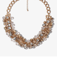 Rhinestoned Cluster Necklace