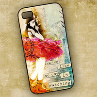 Iphone 4 / 4s cover, Dance like no one is watching - altered art collage ballerina