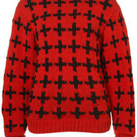 **Handknit Cross Jumper by Unique - Unique  - Designers