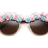80's handmade - victoria flower sunglasses (more colors) - 80's | 80's Purple