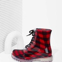 Roadie Combat Boot - Plaid