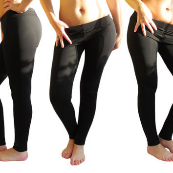 Black leggings winter thick leggings warm yoga pants