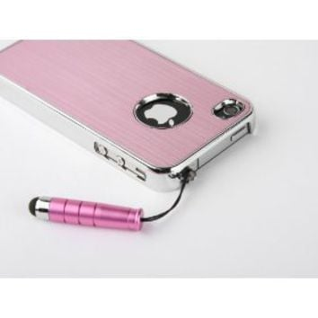 Pandamimi Pink Luxury Steel Aluminum Chrome Hard Back Case Cover for Apple AT...