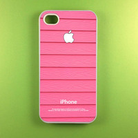 Iphone 4 Case - Pink Wood Iphone 4s Case, Iphone Case