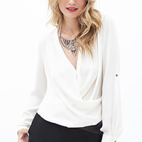 Dotted Surplice Top