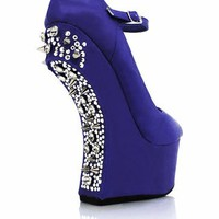 spike-embellished-heel-less-platforms BLACK FUCHSIA GREEN ROYAL - GoJane.com