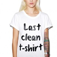 Local Heroes Last Clean T Shirt White