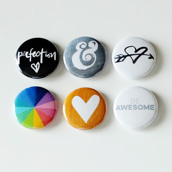 Perfection Badges Button Set