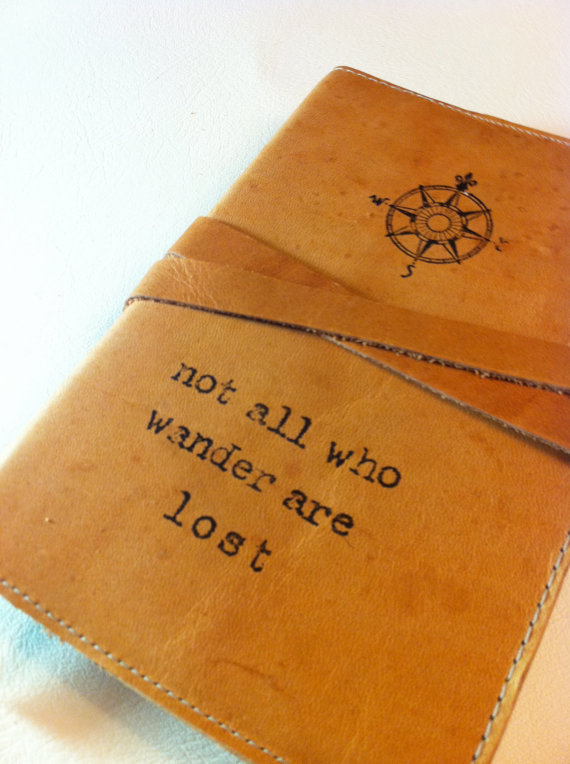 leather journal handprinted custom for you comp/not all