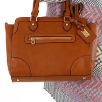Off To Work Purse: Cognac