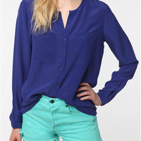 Silence & Noise Silk Blouse