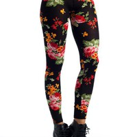 floral-print-leggings BLKMLT - GoJane.com