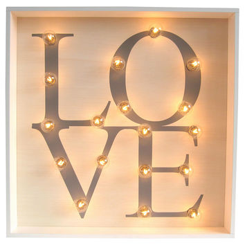 Marquee Light-Up Love Sign Signs