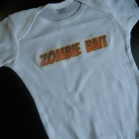 Zombie Bait Onesuit. Infant Zombie Bodysuit. Can Be Customized By Size.