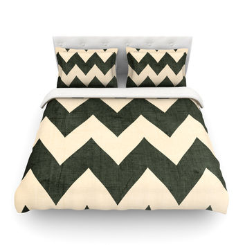 "Catherine McDonald ""Vintage Vinyl"" Cotton Duvet Cover"