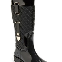 Women's Posh Wellies 'Quizz' Quilted Tall Rain Boot