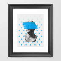 Wade Framed Art Print by Heart of Hearts Designs