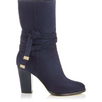 Ink Suede Mid-Calf Boots | Mercy | Autumn Winter 14 | JIMMY CHOO Shoes