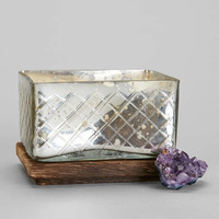 Mercury Glass Box Candle - Urban Outfitters