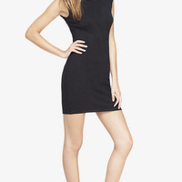 BLACK RHINESTUD SHOULDER SWEATER DRESS from EXPRESS