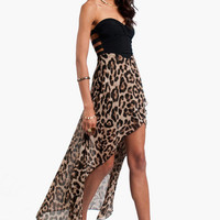 Strapping Leopard Bustier Dress