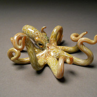 Glass Octopus Sea Life Sculpture art work with color options.