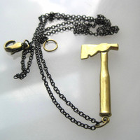 Hatchet Necklace - Gold and Black