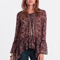 Free As The Wind Asymmetrical Blouse