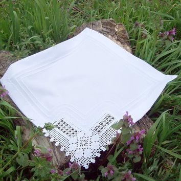 6 Piece Lace Cloth Napkins