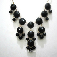 Bubble Necklace, Bubble Statement Necklace, J Crew Inspired, Black, Complimentary Shipping