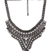 Bejeweled V-Shaped Bib Necklace