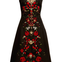 Sleeveless Gazar Embellished A-Line Dress by Dolce & Gabbana - Moda Operandi