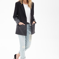 Faux Leather-Trimmed Coat