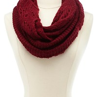 Open Knit Infinity Scarf by Charlotte Russe
