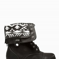 TWISTED AZTEC WIDE COMBAT BOOTS