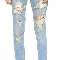 Destroyed Slouchy Skinny Jeans