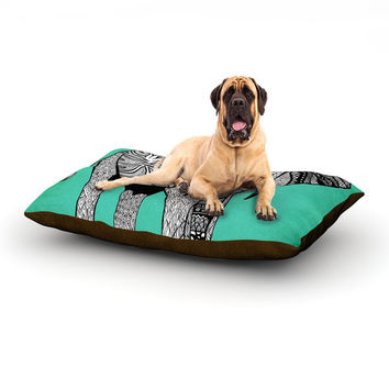 """Pom Graphic Design """"Elephant of Namibia Color"""" Dog Bed"""